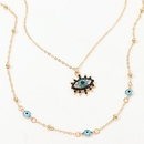 Jewelry Fashion Vintage Studded Devil39s Eye Necklace Eye Pendant Clavicle Chain NHNZ195978