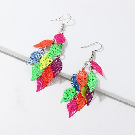 Jewelry Fashion Colorful Earrings Hollow Starfish Leaf Life Tree Print Earrings NHNZ195982's discount tags