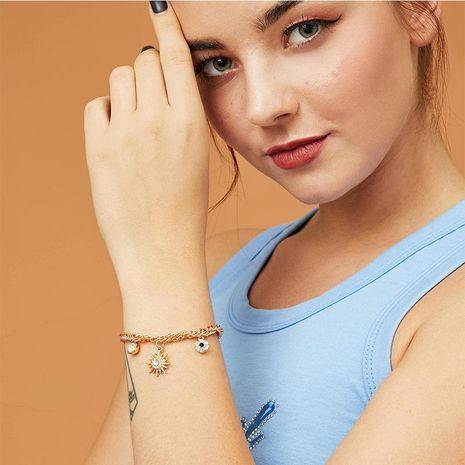 Venta caliente de la joyería pulsera colgante de ojo de diamante aleación sol pulsera mujeres NHNZ195983's discount tags
