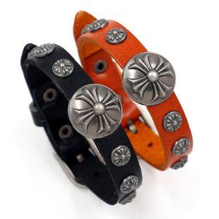 Vintage jewelry trend leather bracelet belt bracelet adjustable fashion bracelet NHHM195988's discount tags