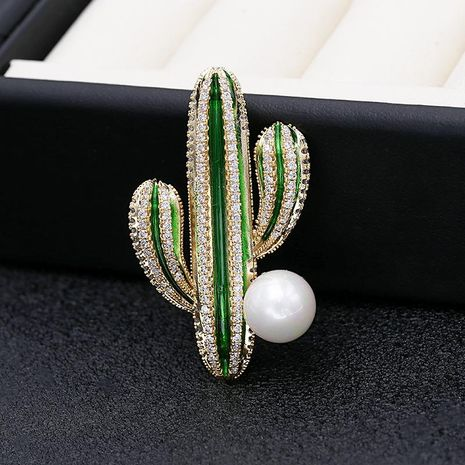 Cactus brooch pin female Korean accessories cardigan coat decoration accessories corsage fashion creative jewelry NHDO195994's discount tags