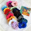 Cloth velvet hair ring Korean solid color hair rope ponytail rubber band leather NHOF196026