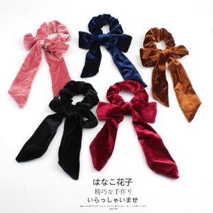 New large bow handmade velvet handmade creative ponytail hair accessory hair ring NHOF196030's discount tags