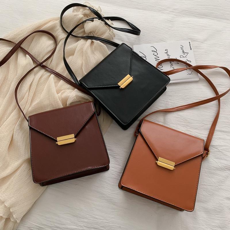 Retro bag women popular new fashion texture wild one-shoulder messenger small square bag NHXC196047