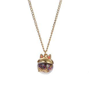 Hot jewelry cartoon creative cute cat pendant necklace clavicle chain accessories women NHZU196053's discount tags
