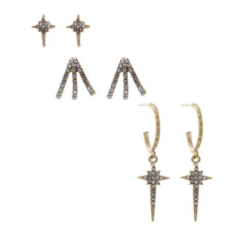 Hot sale diamond cross paw earrings accessories wholesale NHZU196055's discount tags