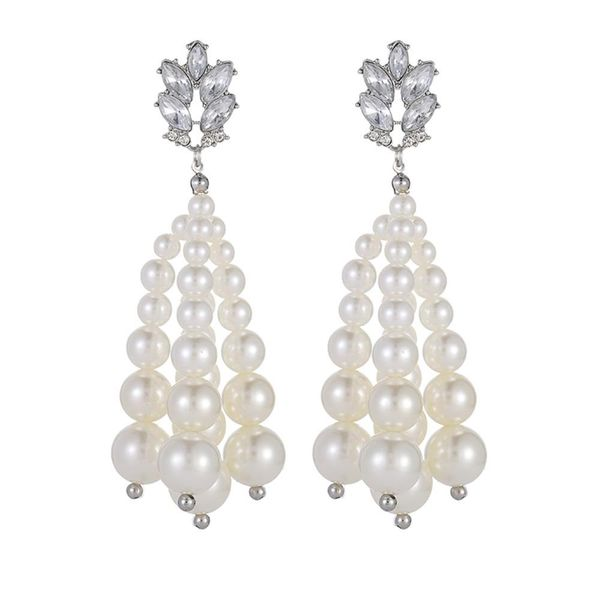Pearl earring fashion ear jewelry pearl earrings women wholesale NHZU196059