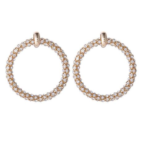 Hot Jewelry Korean Women's Diamond Alloy Plating Gold Earrings Wholesale Women NHZU196060's discount tags