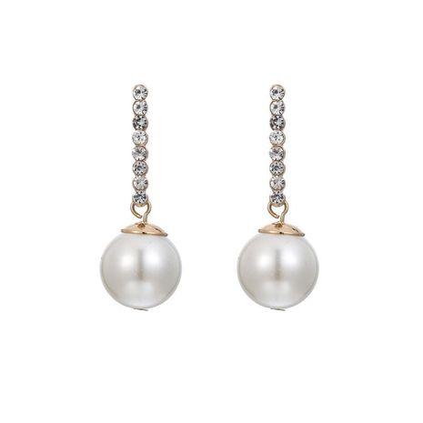 Korean simple pearl diamond summer sweet fresh long earrings accessories women jewelry NHZU196065's discount tags