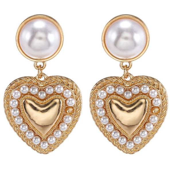 Jewelry Korean cute size pearl alloy trend earring jewelry NHZU196073
