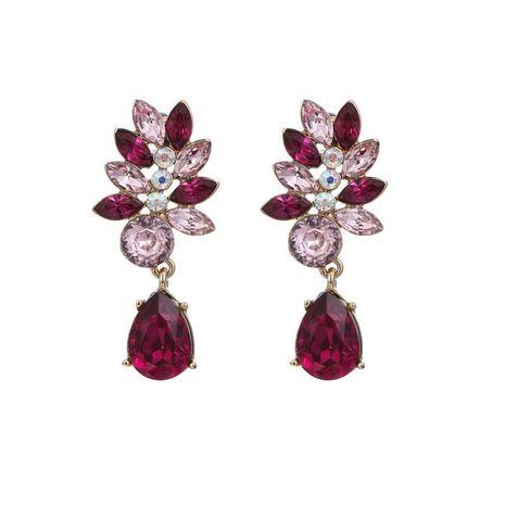 Hot Korean Stained Glass Crystal Flower Geometric Earrings Earrings Accessories Women NHZU196075's discount tags