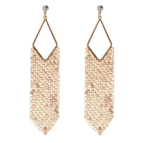Hot sale bohemian alloy sequins diamond hollow diamond earrings wholesale jewelry women NHZU196082's discount tags