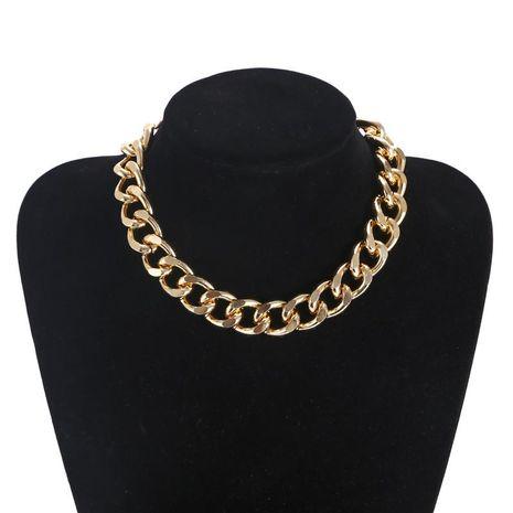Accesorios Artículos de collar de metal punk exagerado retro Accesorios de cadena geométrica simple al por mayor NHZU196087's discount tags