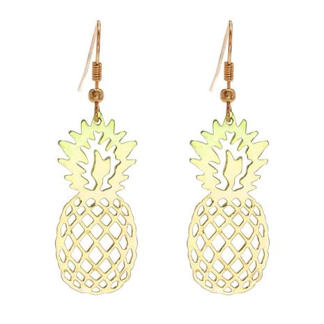 Hot jewelry fashion simple pineapple sweet cute wild golden earrings wholesale women NHZU196089's discount tags
