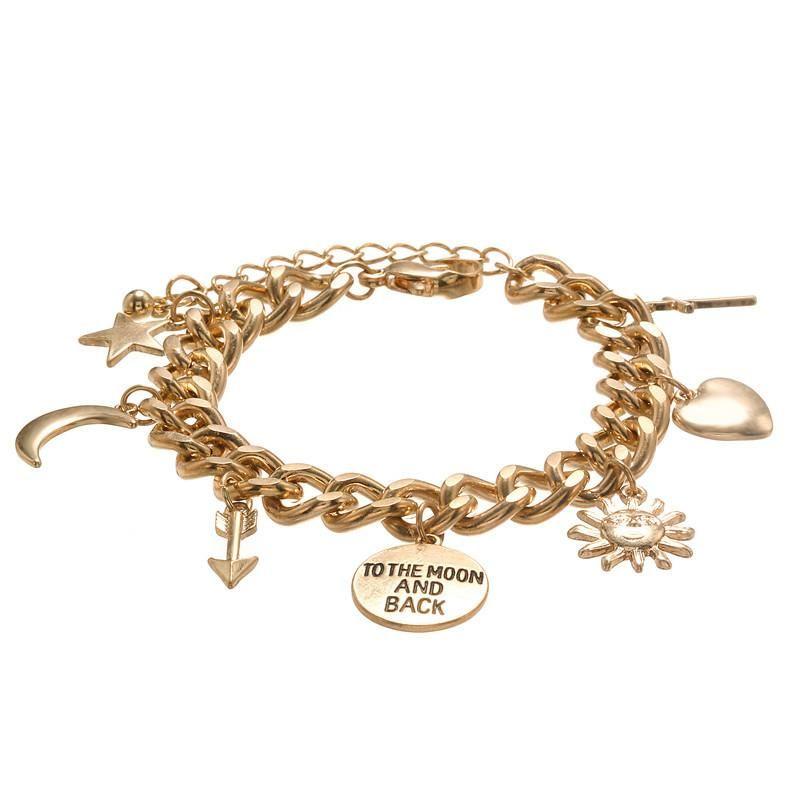 Accessories Vintage Punk Style Arrow Letter Cross Pendant Bracelet Bracelet Wholesale NHZU196090