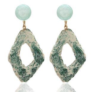 New studs simple design imitation marble texture rhombus irregular hollow earrings NHPF196110's discount tags