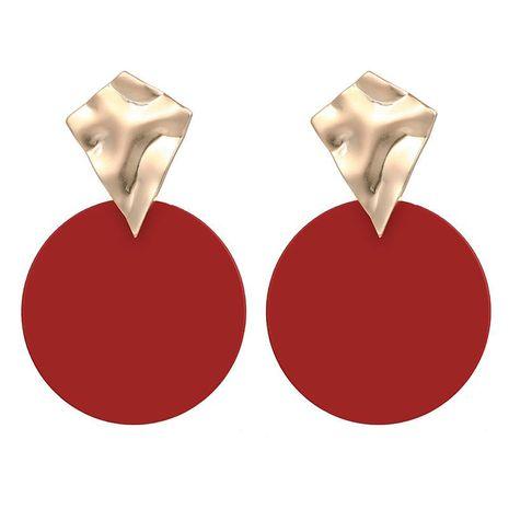 Pendientes metálicos geométricos irregulares cóncavos convexos de disco de color mixto Pendientes simples de moda NHPF196115's discount tags
