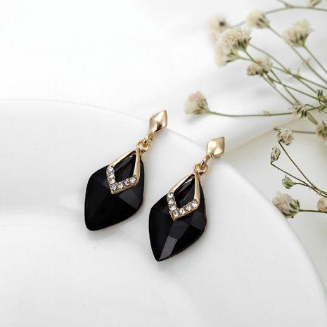 Korean fashion large earrings female long geometric crystal diamond wild earrings NHPF196116's discount tags