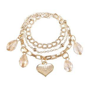 Jewelry creative fashion multilayer alloy bracelet crystal letters love pendant bracelet NHPF196118's discount tags