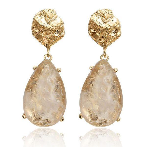Stud Earrings Transparent Drop Drop Earrings NHPF196135