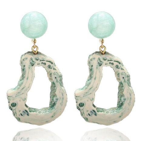 Acrylic geometric hollow irregular earrings fashion creative earrings women NHPF196136's discount tags