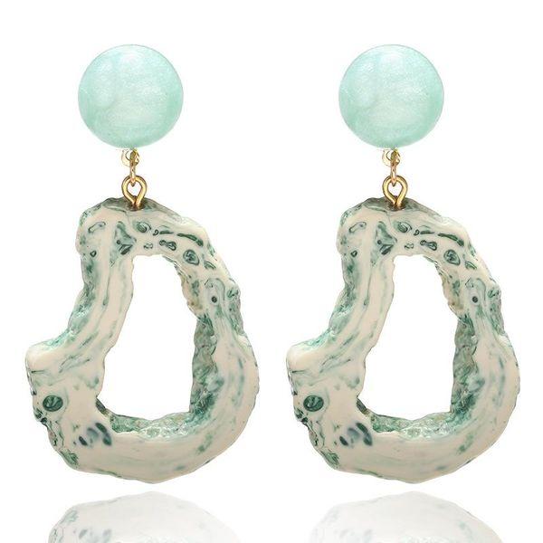 Acrylic geometric hollow irregular earrings fashion creative earrings women NHPF196136