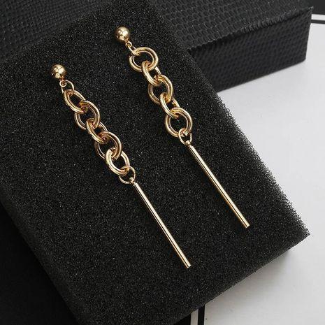 New earrings exaggerated chain earrings long earrings women simple hypoallergenic tassel earrings NHPF196143's discount tags