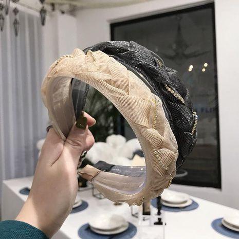 Nuevos accesorios para el cabello Cordón coreano trenzado hecho a mano trenzado trenzado cadena aro de pelo ancho damas NHSM201126's discount tags