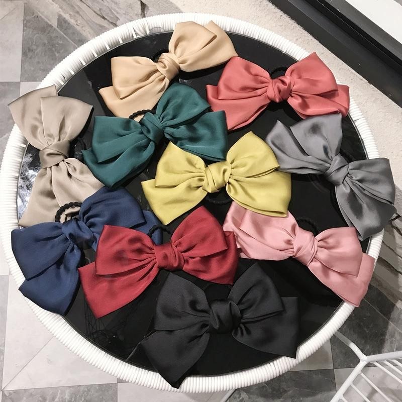 Simple cloth oversized bow high elastic non-marking hair rope hair band rubber band hair tie lady NHSM201135