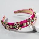 Baroque hair hoop fashion exaggerated court geometric glass diamond full diamond hair accessories bridal hair hoop NHLN201147