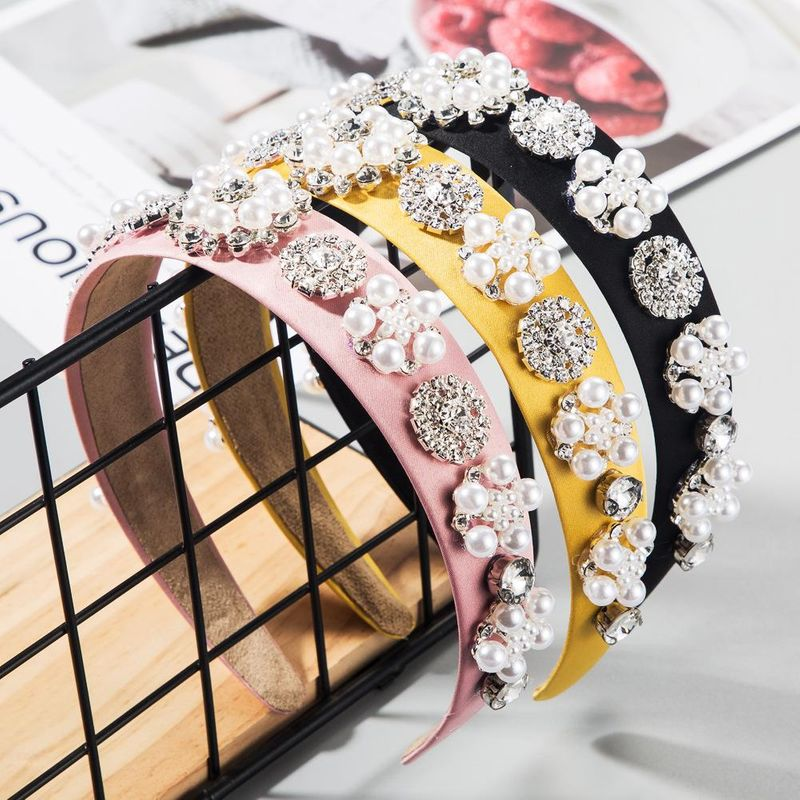 Hair accessories Baroque noble glass diamond cloth spring and summer headband ultra flash headband NHLN201152