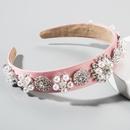 Hair accessories Baroque noble glass diamond cloth spring and summer headband ultra flash headband NHLN201152