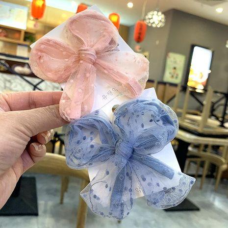 Korean lace princess style bow hair clip cute child duckbill clip hair clip girl hair clip NHSA201158's discount tags