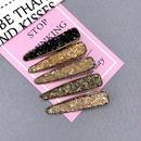 Mori hairpin Korean broken diamond crystal hairpin top clip girl side broken hair clip duckbill clip NHSA201163
