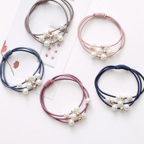 Simple multi-couche cheveux anneau perle tête corde coiffe cheveux accessoires fondation cravate cheveux bande de caoutchouc cheveux corde NHSA201168's discount tags