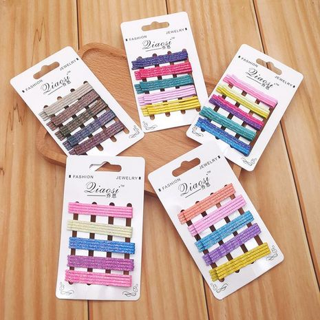 South Korea's new girl flash powder color hairpin word clip hairpin wild hair accessories NHSA201173's discount tags