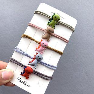 Aleación linda pequeño dinosaurio anillo para el cabello simple chica cuerda para el cabello diadema banda de goma tocado  NHSA201176's discount tags