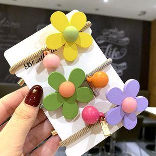 Corea del pelo lindo cuerda de color gelatina chica atar cabeza cuerda colorida flor banda de goma tocado del anillo del pelo NHSA201191's discount tags