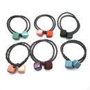 Fashion Girl simple tie hair rubber band square hair ring head rope headdress adult hair rope NHSA201193