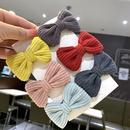 Korean autumn and winter childrens bow corduroy hair clip girl hair accessories clip hairpin girl headdress female NHSA201208