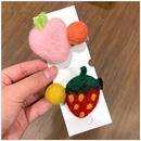 Fruit plush hair rope cute headband children tie hair hair accessories rubber band hair ring  NHSA201216