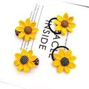 Children39s sunflower hairpin hair ring hair accessories headdress baby rubber band girls hairpin NHSA201219