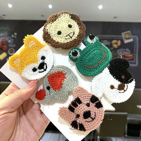 Korean wool embroidery cute cartoon small animal hair clip fashion side hair clip bangs clip BB clip NHSA201229's discount tags