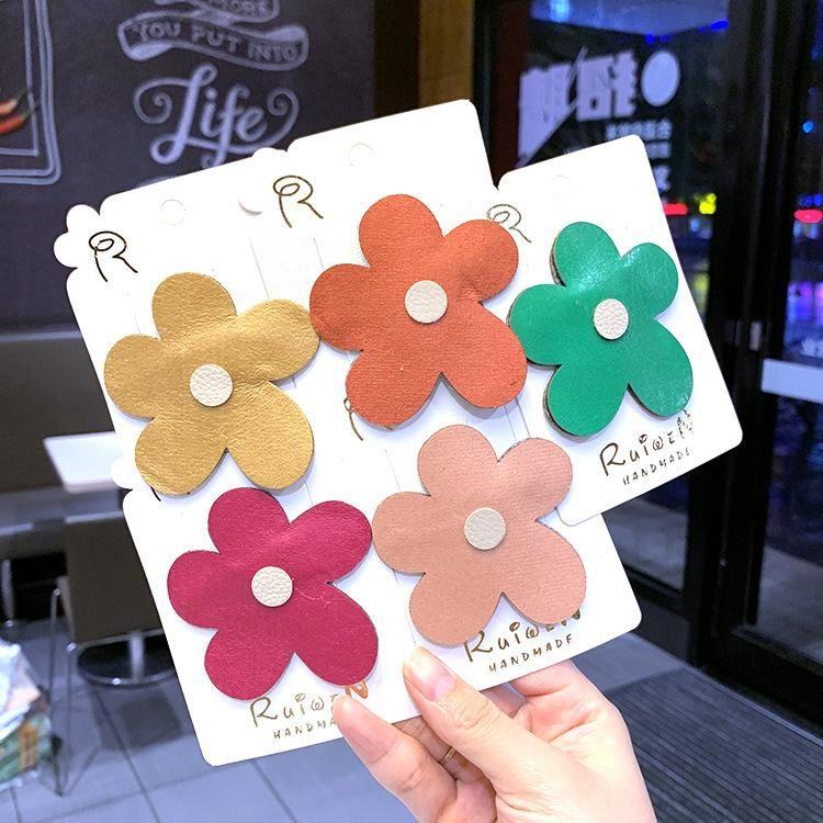 Summer new color big flower parent-child style cute sweet border clip Korean fashion card NHSA201234