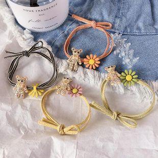 Nueva salvaje linda flor de oso de diamantes completa anudada banda para el cabello diadema de goma anillo para el cabello accesorios para el cabello NHHI201238's discount tags
