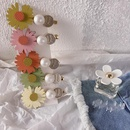 New Korean of the pearl wild small daisy black gold plating hair clip hair clip hair accessories headdress female NHHI201240