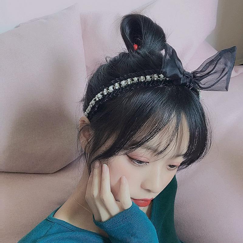 New wild pearl diamond lace retro woven Korean headband headband hair accessories headdress women NHHI201262