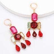 Alloy diamond glass diamond earrings full diamond retro earrings wholesales fashion  NHJE201291