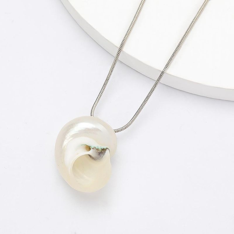 Fashion Exaggerated Alloy Box Chain Shell Pendant Hip Hop Necklace New Accessories NHJE201292