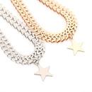 Punk Exaggeration Letter Chain Pentagram Pendant Necklace Wholesale NHXR201302